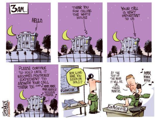 McChrystal on hold...